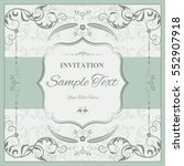 invitation card with floral... | Shutterstock .eps vector #552907918