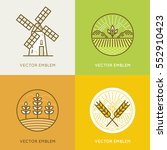 vector set of illustrations and ... | Shutterstock .eps vector #552910423