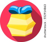 gift box. flat colorful icon.... | Shutterstock .eps vector #552914863