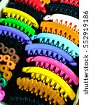 color full hair clip on the... | Shutterstock . vector #552919186