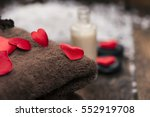 wellness decoration  valentine... | Shutterstock . vector #552919708