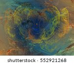 abstract fractal background.... | Shutterstock . vector #552921268