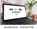 Small photo of Laptop screen with e-tailing concept
