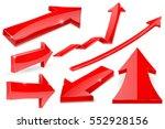 set of red arrows. vector 3d... | Shutterstock .eps vector #552928156