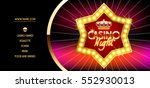vector golden vip ticket with... | Shutterstock .eps vector #552930013