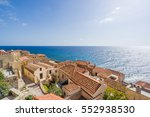 the beautiful byzantine castle... | Shutterstock . vector #552938530