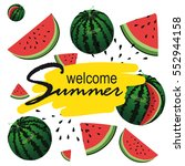 welcome summer inscription on... | Shutterstock .eps vector #552944158