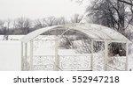 Winter Landscape  Gazebo On Th...
