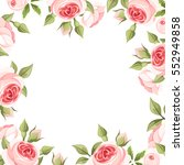 vector background frame with... | Shutterstock .eps vector #552949858