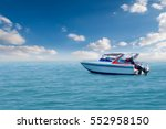 Boat Speed Boat On The Sea Wit...