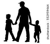 set silhouette of happy family... | Shutterstock .eps vector #552959464