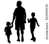set silhouette of happy family... | Shutterstock .eps vector #552959578