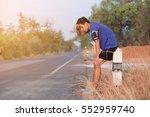tired runner  | Shutterstock . vector #552959740