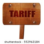 tariff  3d rendering  text on...