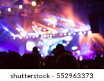 blurred background of concert | Shutterstock . vector #552963373