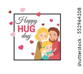 happy hug day background with... | Shutterstock .eps vector #552964108