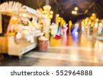 blurred image of walk way of... | Shutterstock . vector #552964888