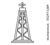 oil resources icon. outline... | Shutterstock . vector #552971389