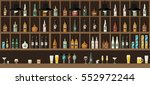 bar restaurant counter with... | Shutterstock .eps vector #552972244