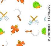 animal farm pattern. cartoon... | Shutterstock . vector #552981010
