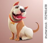 happy dog illustration | Shutterstock .eps vector #552981658