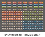 square cartoony buttons for... | Shutterstock .eps vector #552981814