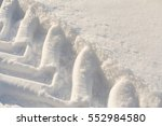 Tractor Footprints In The Snow...