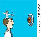 focus on target   conceptual... | Shutterstock .eps vector #552986560