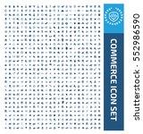commerce icon set clean vector | Shutterstock .eps vector #552986590