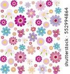 seamless flowers pattern vector ...   Shutterstock .eps vector #552994864