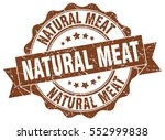 natural meat. stamp. sticker.... | Shutterstock .eps vector #552999838