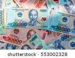 vietnamese money  dong banknote ... | Shutterstock . vector #553002328