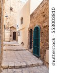 ancient stone streets in arabic ...   Shutterstock . vector #553003810