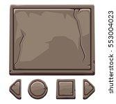 set cartoon brown stone assets...