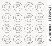 time thin line icon set | Shutterstock .eps vector #553004254