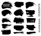 abstract black thick strokes... | Shutterstock .eps vector #553005478