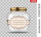 glass jar for canning and... | Shutterstock .eps vector #553007818