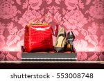the showcase in a luxury... | Shutterstock . vector #553008748