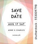 modern wedding save the date... | Shutterstock .eps vector #553009798