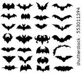 vector  isolated  silhouette... | Shutterstock .eps vector #553011394
