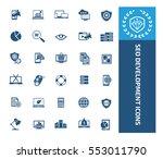 seo development icon set clean ... | Shutterstock .eps vector #553011790