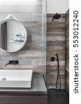 Modern Bathroom With Shower An...