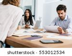 young businesswoman and... | Shutterstock . vector #553012534