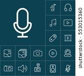 thin line microphone  mic icon...