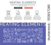 heating elements outline ... | Shutterstock .eps vector #553017280