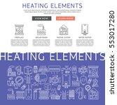 heating elements outline ... | Shutterstock .eps vector #553017280