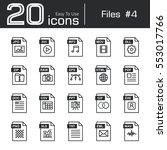 files icon set 4   jpg . avi .... | Shutterstock .eps vector #553017766