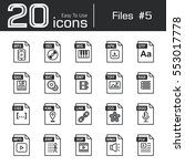 files icon set 5   mp4 . iso .... | Shutterstock .eps vector #553017778