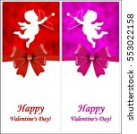 valentine's day background with ... | Shutterstock .eps vector #553022158