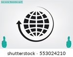globe and arrow icon vector eps ... | Shutterstock .eps vector #553024210